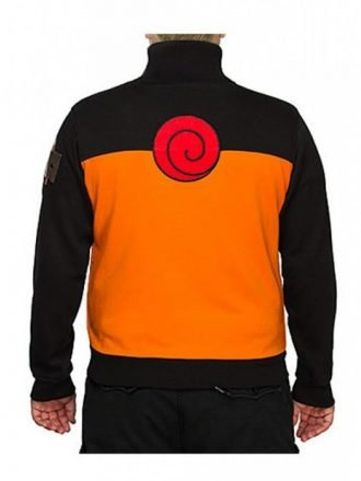 Naruto Uzumaki Japanese Warrior Orange & Black Track Jacket