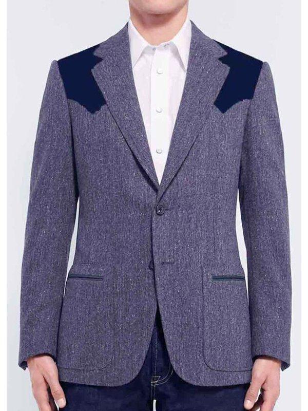 Pedro Pascal Kingsman The Golden Circle Grey Wool Blazer