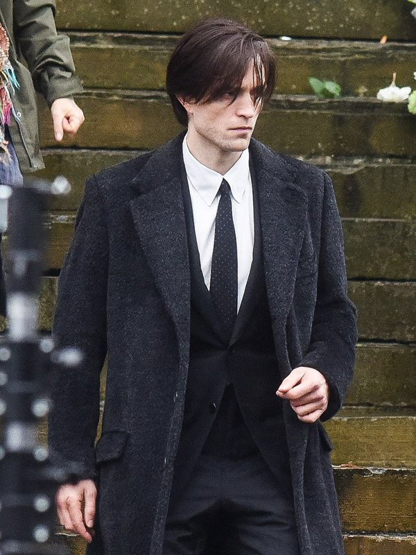 Robert Pattinson The Batman 2022 Black Wool Coat