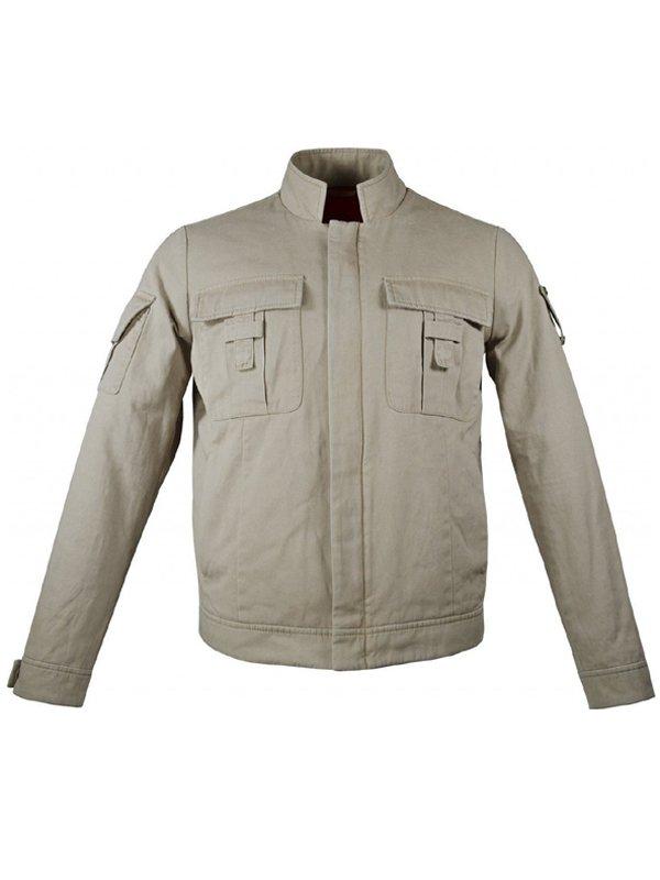 Star Wars Empire Strikes Back Mark Hamill Cotton Beige Jacket