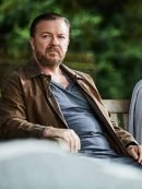 Tony After Life S03 Ricky Gervais Cotton Brown Jacket