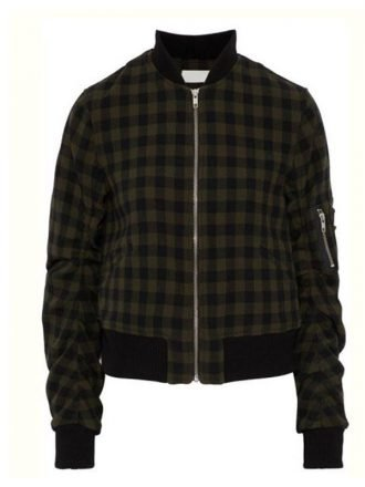 Tv Series 13 Reasons Why S04 Inde Navarrette Checked Bomber Jacket