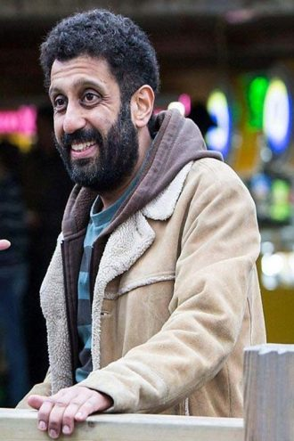 Tv Series Back To Life Adeel Akhtar Brown Suede Leather Jacket