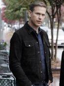 Tv Series Legacies Mathew Davis Black Suede Leather Jacket