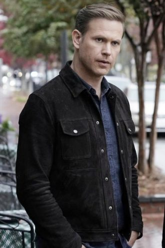 Tv Series Legacies Mathew Davis Black Suede Leather Jacket