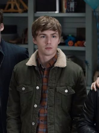 Tv Series13 Reasons Why S04 Miles Heizer Green Denim Jacket