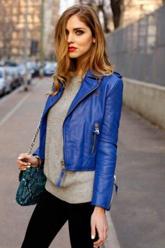 Women's Slim Fit Lambskin Leather Motorcycle Jacket