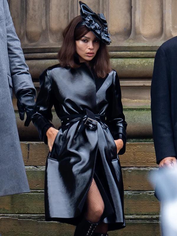 Zoë Kravitz The Batman 2022 Black Coat