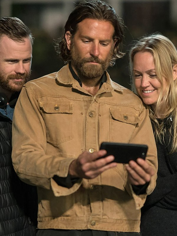 A Star Is Born Bradley Cooper Cotton Beige Jacket