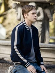 Alexander Calvert Supernatural S15 White Stripes Varsity Jacket