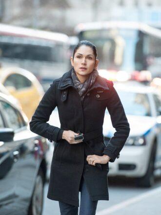 Angela Valdes Power S02 Black Coat