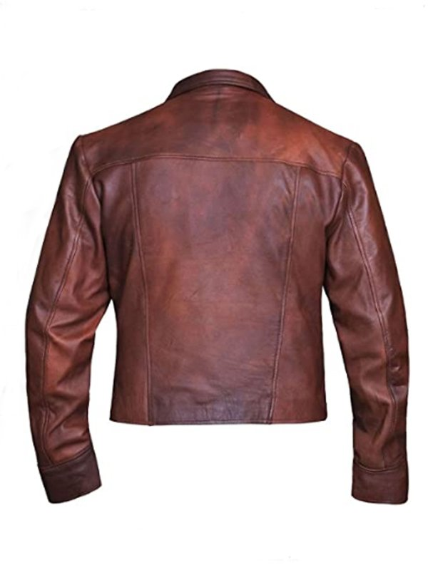 Aquaman Justice League Jason Momoa Leather Brown Jacket