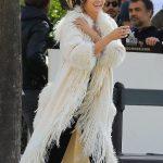 Ashley Park Emily In Paris White Fur Coat