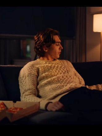 Austin Abrams Dash & Lily White Sweater