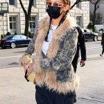 Bella Hadid New York Camouflage Jacket