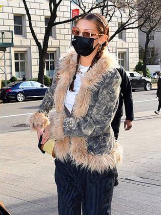 Bella Hadid New York Camouflage Jacket