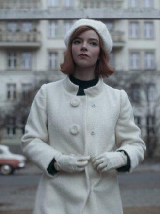 Beth Harmon The Queen's Gambit Anya Taylor Joy Wool Coat