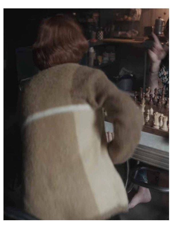 Beth Harmon The Queen's Gambit Brown Wool Sweater