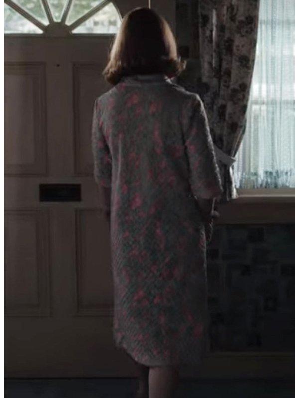 Beth Harmon The Queen's Gambit Grey & Pink Printed Coat