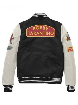 Bobby Tarantino Logic Black & White Baseball Varsity Jacket