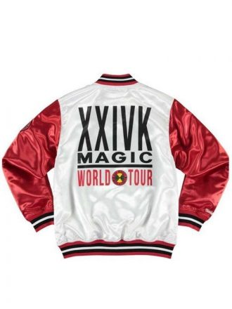 Bruno Mars 24k Warm-Up Satin Bomber Jacket