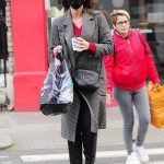 Chelsea Christine Lampard Grey Checked Coat