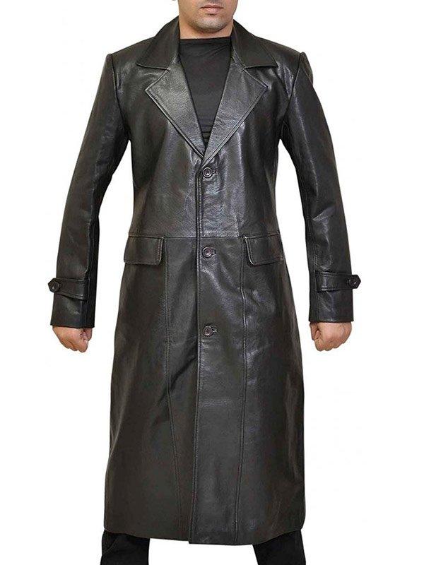 Clark Kent Superman Smallville Black Leather Coat