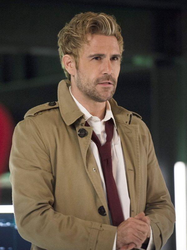 Constantine Matt Ryan Brown Coat