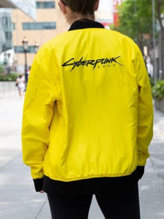 Cyberpunk 2077 Bomber Yellow Jacket