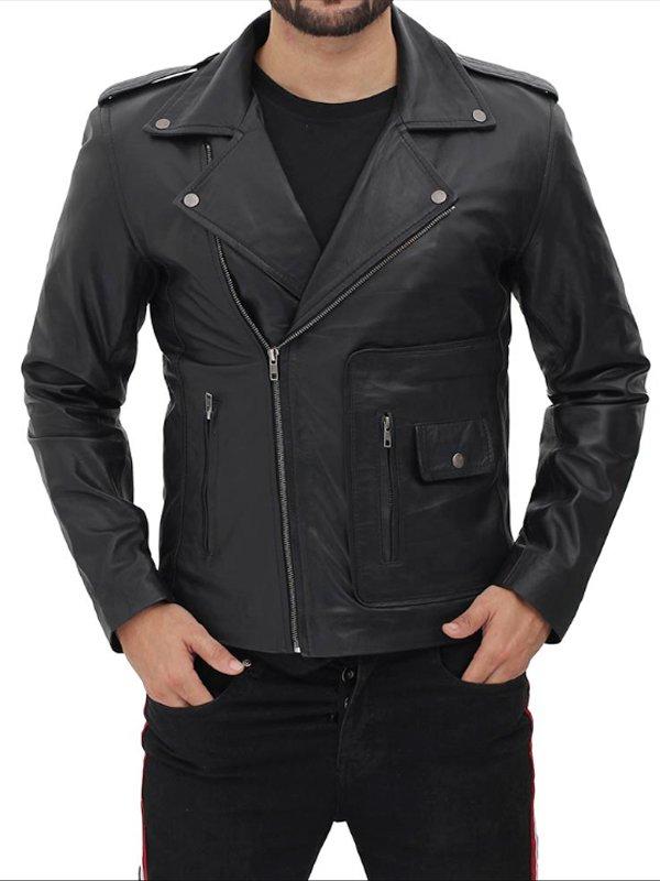 Danny Zuko Grease John Travolta T-Birds Black Leather Jacket