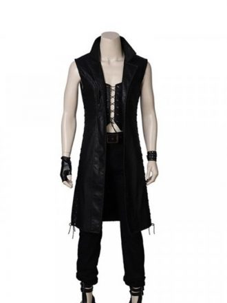 Devil May Cry 5 Long Black Leather Coat