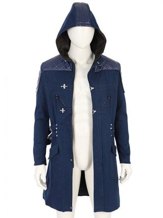 Devil May Cry 5 Nero Blue Trench Coat