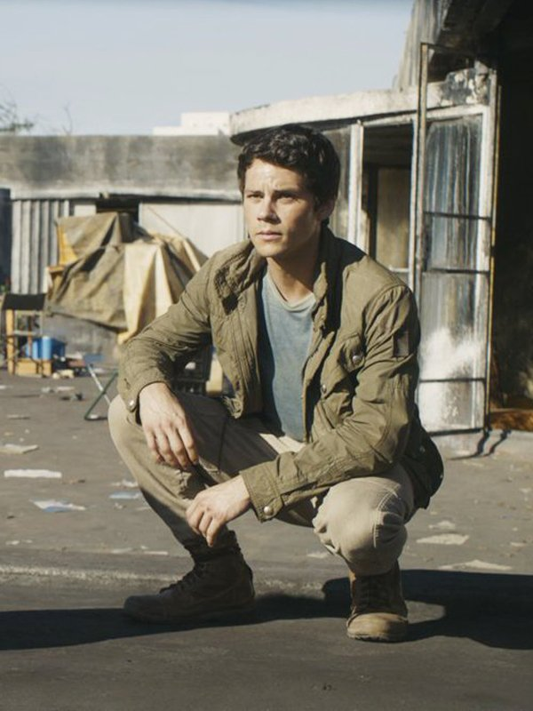 Dylan O'brien Maze Runner The Death Cure Cootn Green Jacket