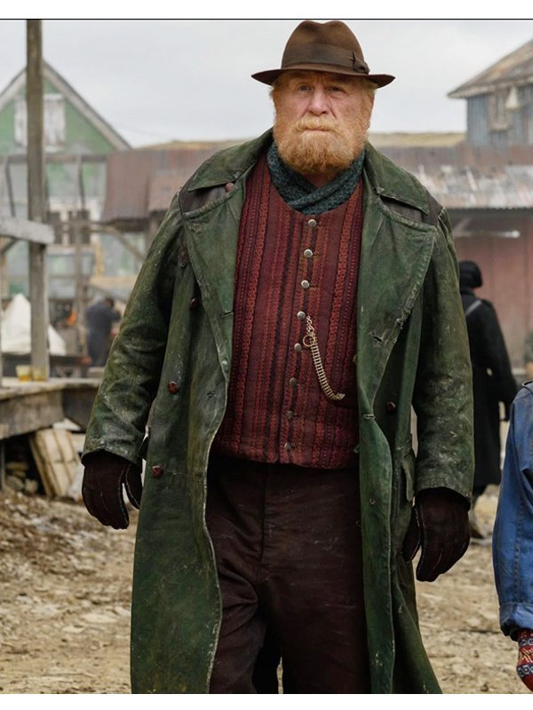 Farder Coram His Dark Materials Long Leather Coat