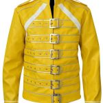 Freddie Mercury Concert Yellow Leather Jacket