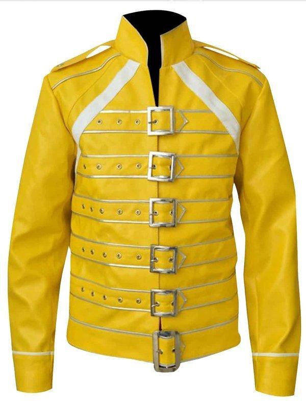 Freddie Mercury Concert Yellow Leather Jacket