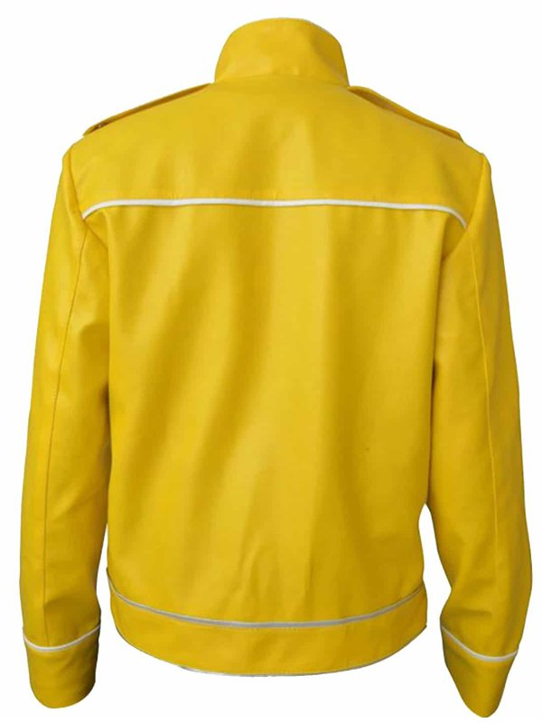 Freddie Mercury Leather Yellow Jacket