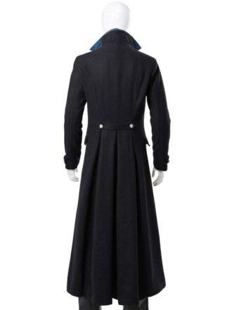 Gellert Grindelwald Johnny Depp Fantastic Beasts Black Wool Coat