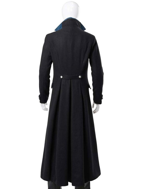 Gellert Grindelwald Johnny Depp Fantastic Beasts Black Wool Coat