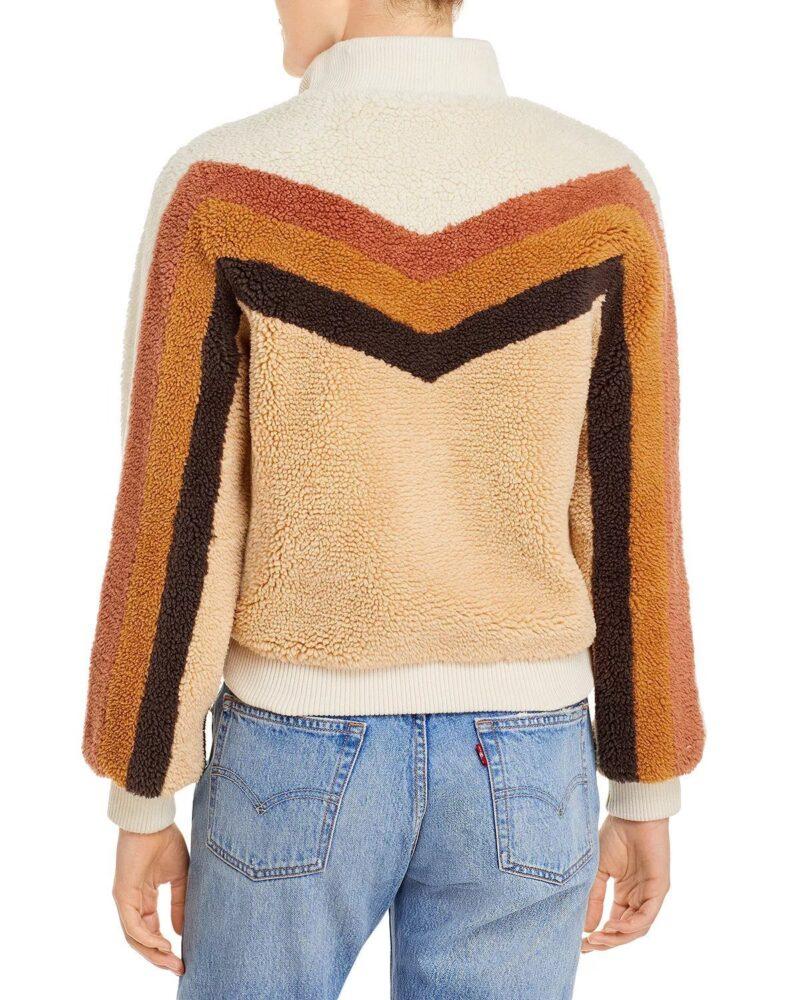 Gina Dabrowski B Positive Annaleigh Ashford Fur Brown Striped Jacket