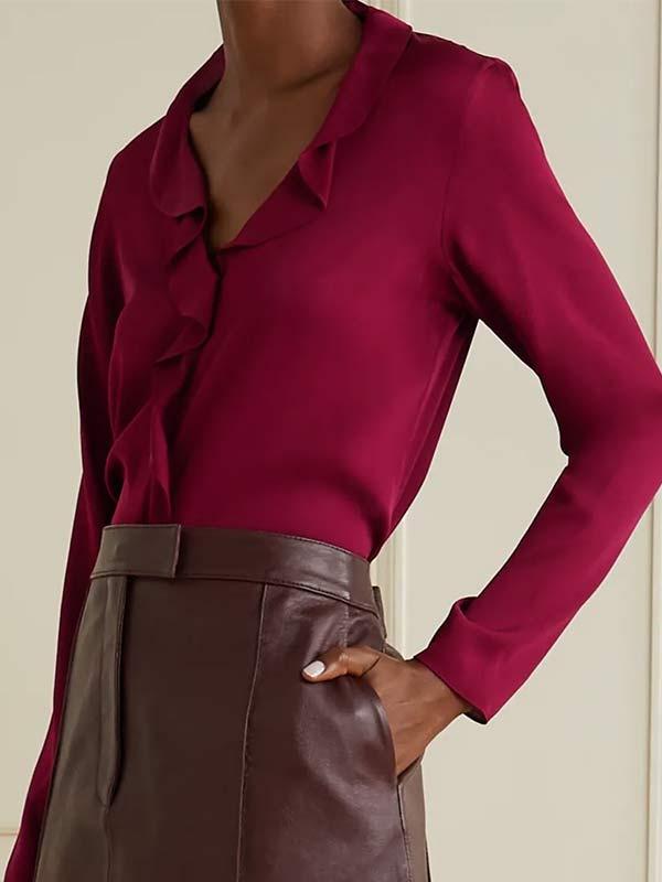 Grace Fraser Pink Band Collar Blouse Shirt