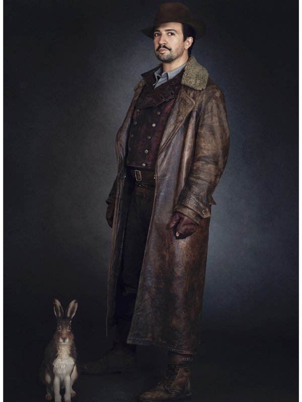 His Dark Materials Lin-Manuel Miranda Long Leather Fur Coat