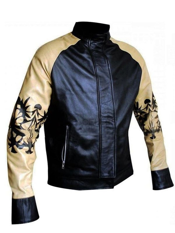Hoff 9000 Kung Fury Cobra David Hasselhoff Leather Bomber Jacket