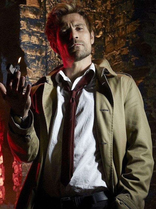 John Constantine Matt Ryan Brown Cotton Coat