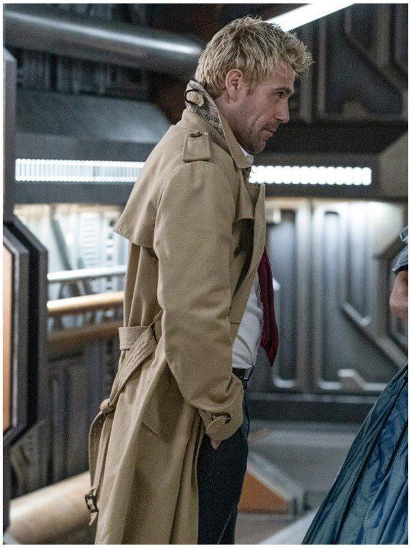 John Constantine Matt Ryan Brown Cotton Trench Coat
