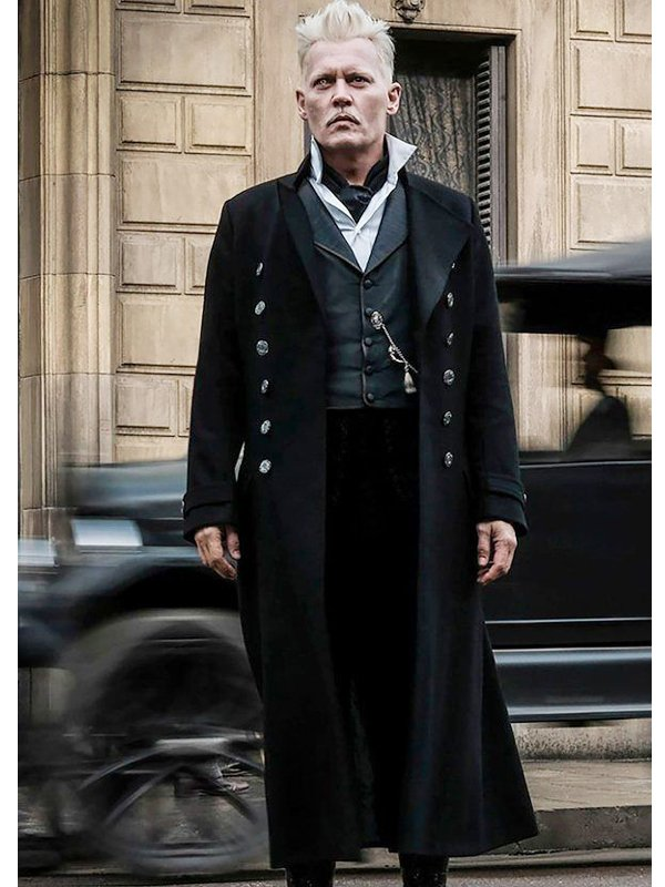 Johnny Depp Fantastic Beasts The Crimes Of Grindelwald Long Coat