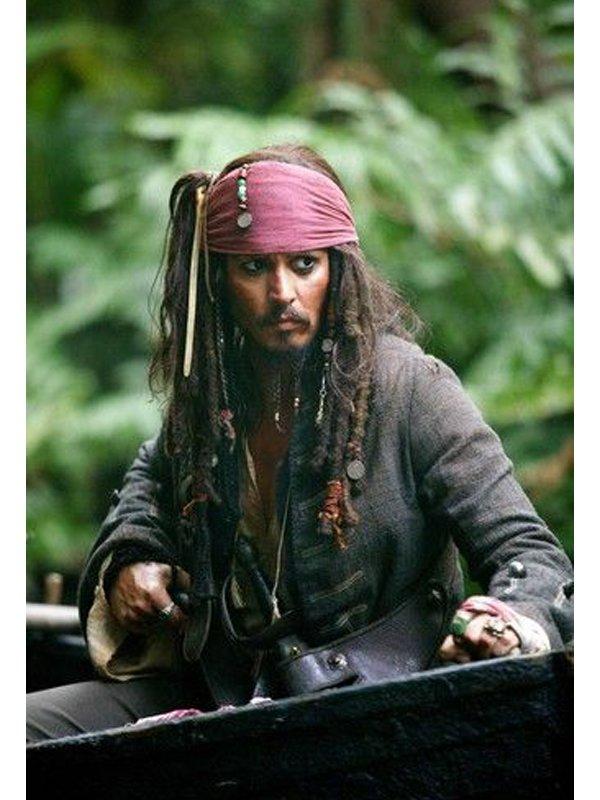 Johnny Depp Pirates of The Caribbean Brown Coat