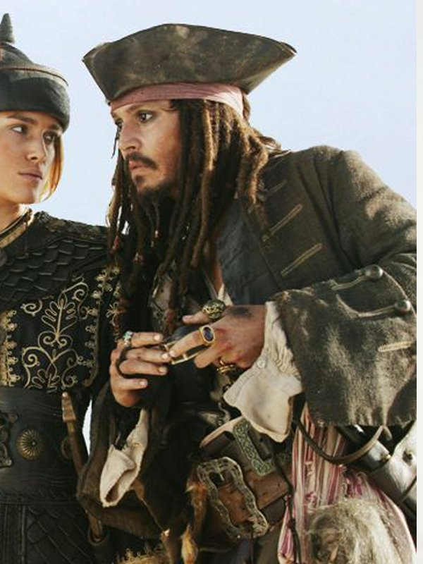 Johnny Depp Pirates of The Caribbean Wool Coat