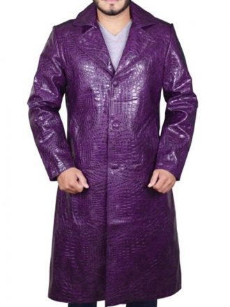 Joker Suicide Squad Jared Leto Purple Trench Coat
