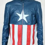 Jon Bon Jovi Concert Captain America Leather Jacket